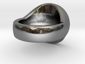 Trinity Signet Ring in Premium Silver