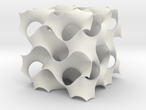 3D Gyroid Minimal Surface in White Strong & Flexible