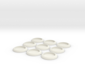 30mm Socket Base in White Strong & Flexible