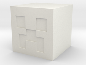 Creeper Action Figure  (Head) in White Strong & Flexible