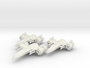 EU Corvan T-4 wing in White Strong & Flexible