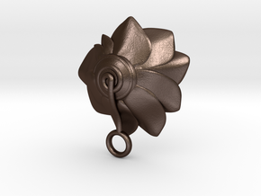 Lotus || Flower Earring in Matte Bronze Steel
