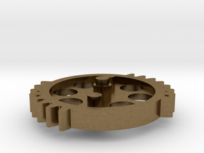 DSG - dual sector gear 2/3 scale keychain/necklace in Raw Bronze