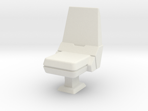 CP03 Bridge Operator's Chair (28mm) in White Strong & Flexible