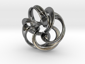 Scherk Minimal Surface Toroid in Polished Silver