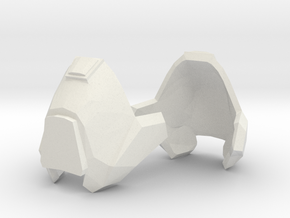 1:6 knee armor 1 pair revised scale in White Strong & Flexible