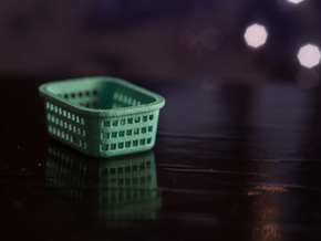1:24 Laundry Basket  in White Strong & Flexible