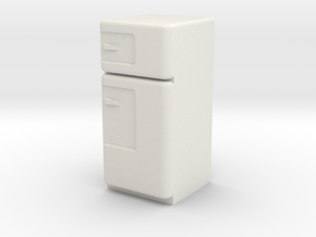 1:24 Vintage Fridge, Smaller in White Strong & Flexible