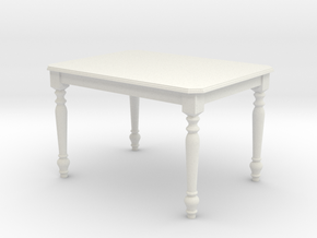 1:24 Colonial Dining Table in White Strong & Flexible