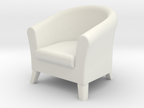 1:24 Club Chair in White Strong & Flexible