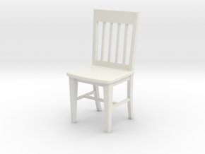 1:24 Slat Chair in White Strong & Flexible