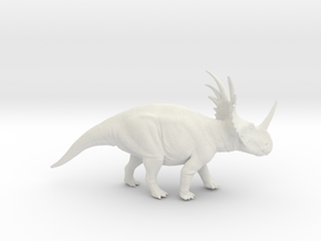 Styracosaurus 1:35 v1 in White Strong & Flexible
