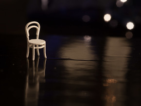 1:48 Bentwood Chair in White Strong & Flexible