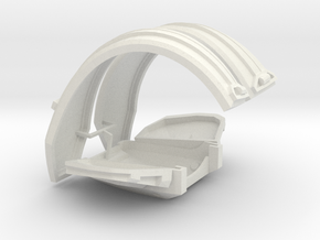 1:6 scale suspenders chest armor in White Strong & Flexible