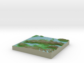 Terrafab generated model Wed Jan 22 2014 12:57:39  in Full Color Sandstone