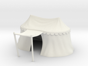 Medieval double tent for 25mm miniatures in White Strong & Flexible