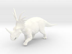 Styracosaurus 1:35v 2 in White Strong & Flexible Polished