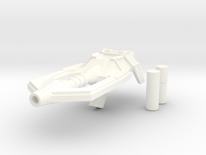 Shrapnel Gun in White Strong & Flexible Polished