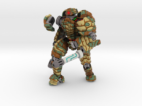 Mech suit with twin weapons (7) in Full Color Sandstone