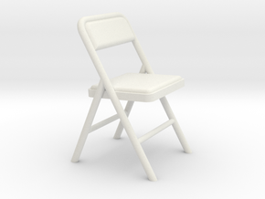 Folding Chair 2 (Not Full Size) in White Strong & Flexible