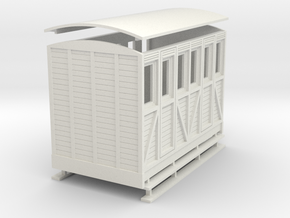 Sn2 woody 2 compartment coach  in White Strong & Flexible