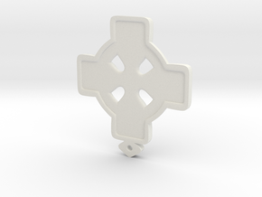 Celtic Cross in White Strong & Flexible
