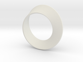Small Mobius Strip in White Strong & Flexible