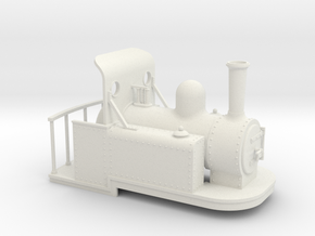 On16.5 Spooner style tank quarry loco weatherboard in White Strong & Flexible