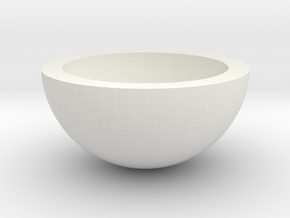 HalfHollowSphere30 in White Strong & Flexible