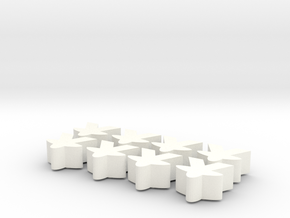 Meeples with heart in White Strong & Flexible Polished
