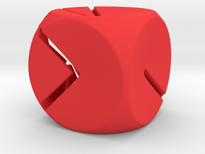 L'Indécis (20 mm - plastic) in Red Strong & Flexible Polished