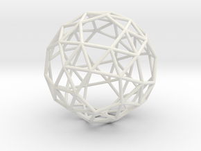 SnubDodecahedron 100mm in White Strong & Flexible