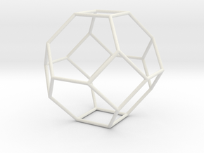 TruncatedOctahedron 100mm in White Strong & Flexible