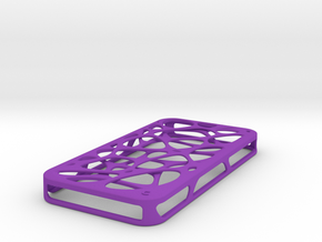 iPhone 4 / 4s case - Cell 2 in Purple Strong & Flexible Polished