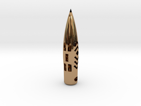 "50BMG ""Hogstooth"" necklace  *CUSTOMIZED* with Name in Polished Brass"