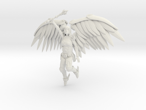 5 Inch Tall Metal Angel Hollow in White Strong & Flexible