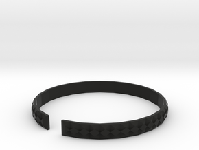 Gashi - Small plastic bracelet. in Black Strong & Flexible