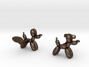 Balloon Dog Cufflinks in Polished Bronze Steel