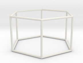 hexagonal prism 70mm in White Strong & Flexible