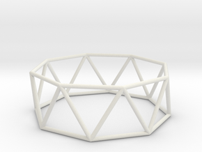 octagonal antiprism 70mm in White Strong & Flexible