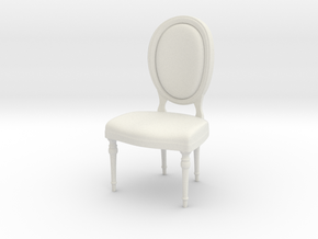 1:24 oval chair 1 (Not Full Size) in White Strong & Flexible