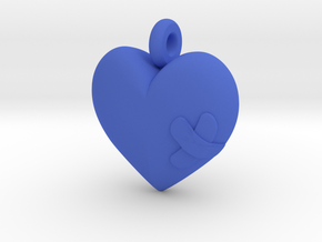 Wounded Heart Pendant in Blue Strong & Flexible Polished