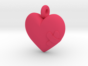 Wounded Heart Pendant in Pink Strong & Flexible Polished