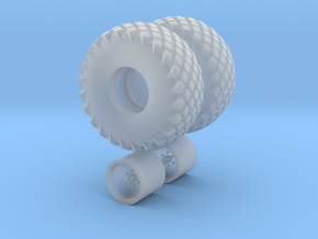 1/64 scale 16.5L X 16.1 Turf Tires And Wheels in Frosted Ultra Detail