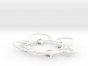 Syncro Estes Proto X Nano Quadcopter Parts Protect in White Strong & Flexible Polished