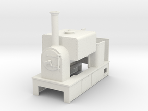 O9 saddle tank tram loco #3 in White Strong & Flexible