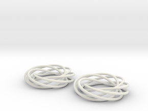 Looped Spiral Earrings in White Strong & Flexible