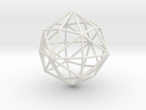 DisdyakisDodecahedron 70mm in White Strong & Flexible