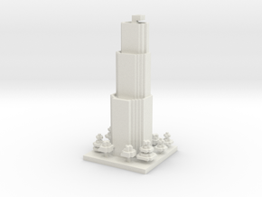 30x30 Tower01 (mix trees) (1mm series) in White Strong & Flexible
