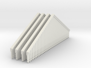 Valance Type 3 X 4 OO Scale in White Strong & Flexible